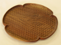 花形パン皿 (ウォールナット 大)