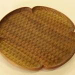 花形パン皿 (ウォールナット 中)