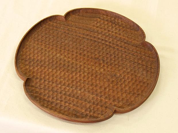 花形パン皿 (ウォールナット 特大)